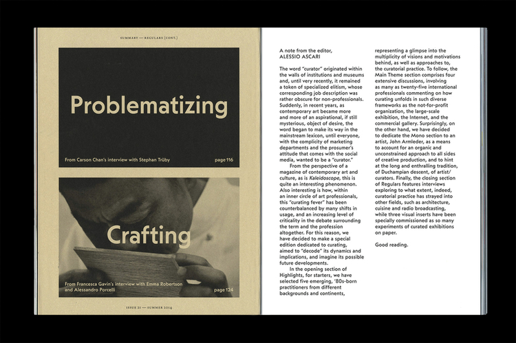 Kaleidoscope Issue 21, Decoding Curating - OK-RM