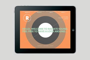 Bradley Rogerson Design Journal » Radiate Sound Website