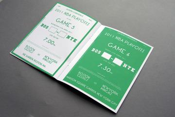 Celtics Playoff Guide : Michael Mercer Brown : Graphic Design