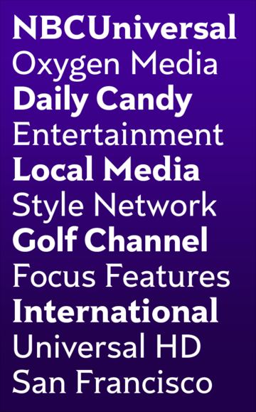 Bold Monday Rock for NBCUniversal