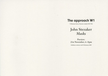 Fraser Muggeridge studio: John Stezaker: Masks, The approach 2007