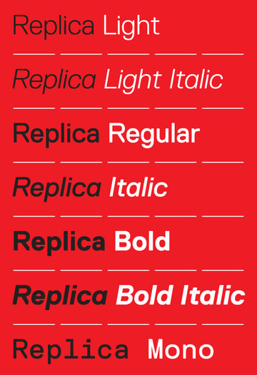 LL Replica Typeface and Specimen Book by Lineto