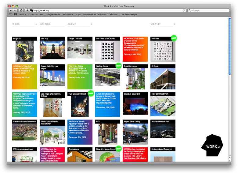 Project Projects — WORK Architecture Company website