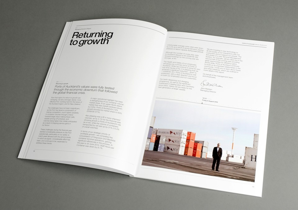Best Awards - Insight. / Working for New Zealand - Ports of Auckland Annual Review 2011