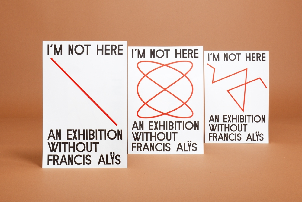 Felix Weigand - I'm not Here. An Exhibition Without Francis Alys, Exhibition identity and publication for curatorial programme of art gallery de Appel, Amsterdam, 2010