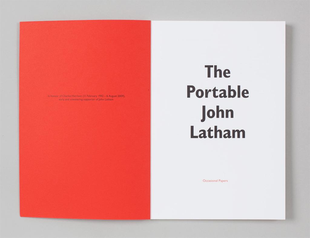 The Portable John Latham – Book | Alexander Lis