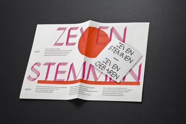 Felix Weigand - Zeven Stemmen - Zeven Gebaren, Poster and CD, 2008