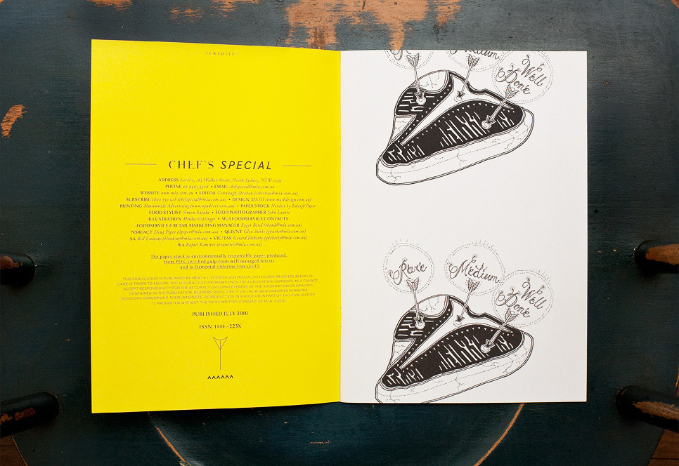 MASH - PURVEYORS OF THE FINE - ART DIRECTION & DESIGN - Chef's Special #71
