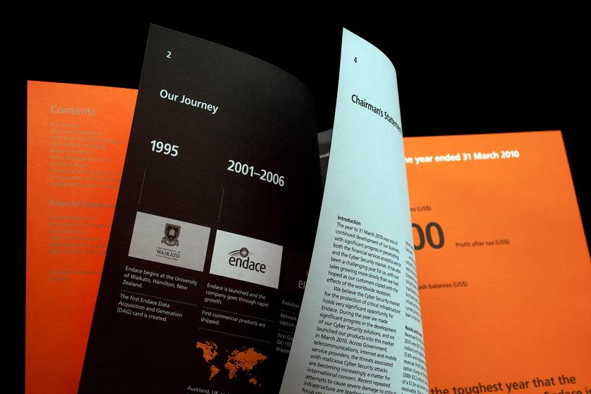 Endace. Brand Development, Packaging Design, Literature Design, Signage, Branded Environment, Uniform Design. Everything Design. Auckland, New Zealand.