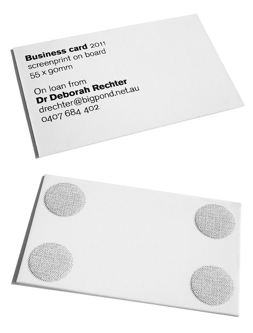 Dr Deborah Rechter business card   Design by Pidgeon