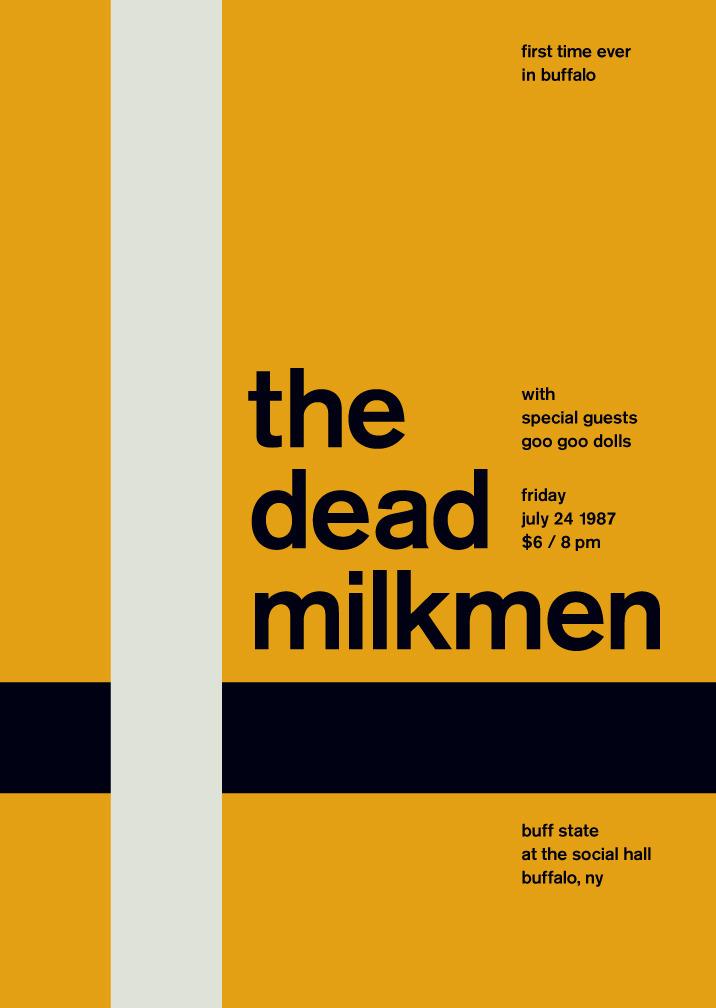the dead milkmen at buff state, 1987 - swissted