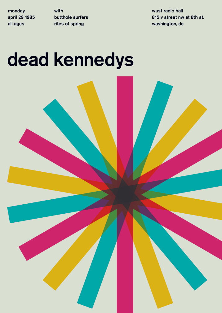 dead kennedys at wust radio hall, 1985 - swissted