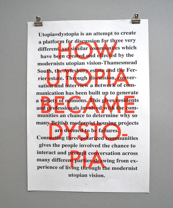 Utopia=Dystopia posters : MATTHEW PEEL