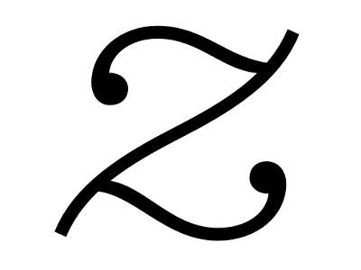 "Dribbble - Lowercase italic ""z"" by Kris Sowersby"