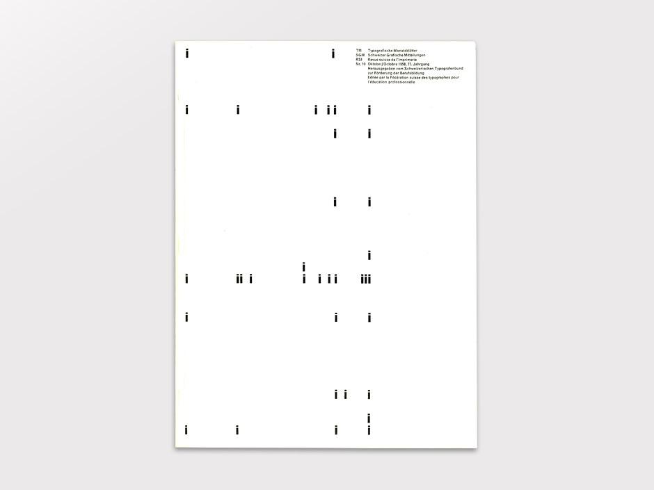 Display   Typographische Monatsblatter 1958 Number 10 October   Collection