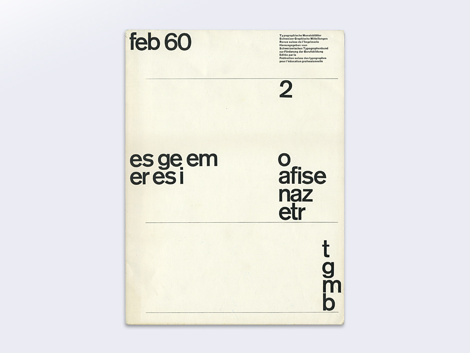Display | Typographische Monatsblatter 1960 Number 2 February | Collection