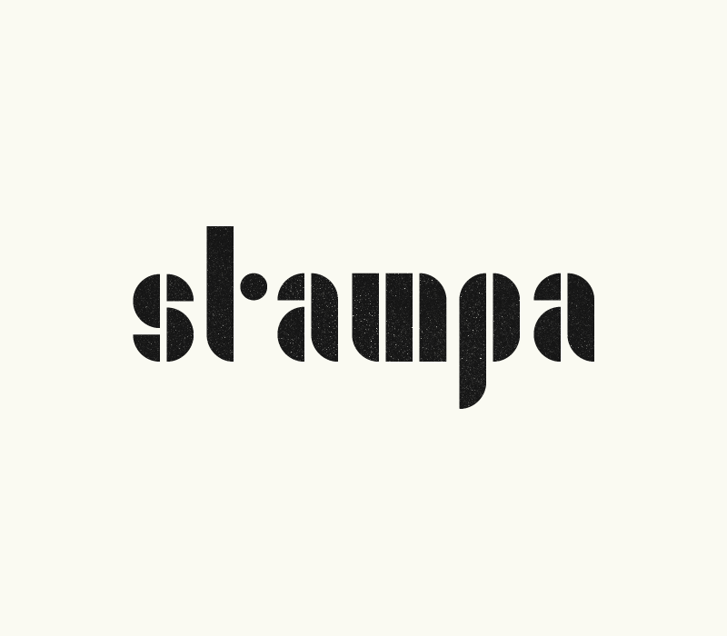 Schrift Stampa — Jens Windolf, Grafikdesign