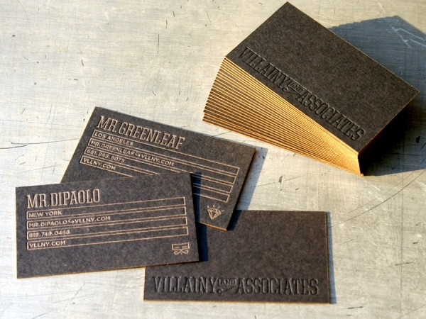 Villainy Black Business Card, Gold Edge « Beast Pieces