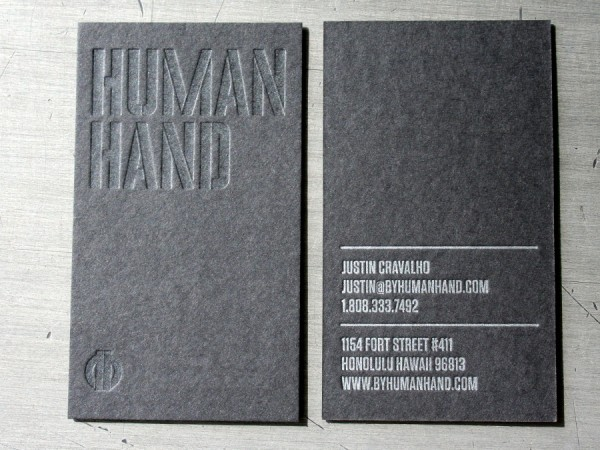 Human Hand Varnish On Black Business Card « Beast Pieces