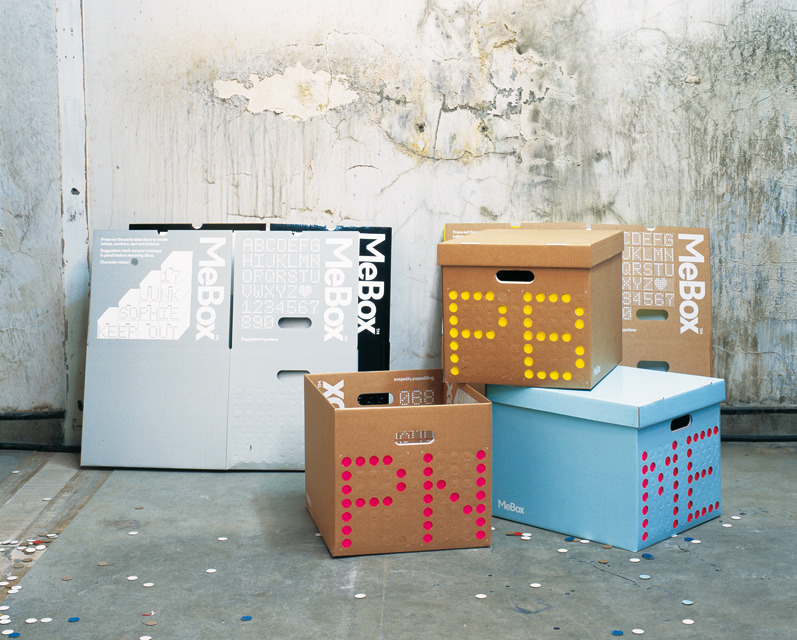 Graphic Thought Facility – MeBox customisible storage system 2002 | Product | Graphic Thought Facility