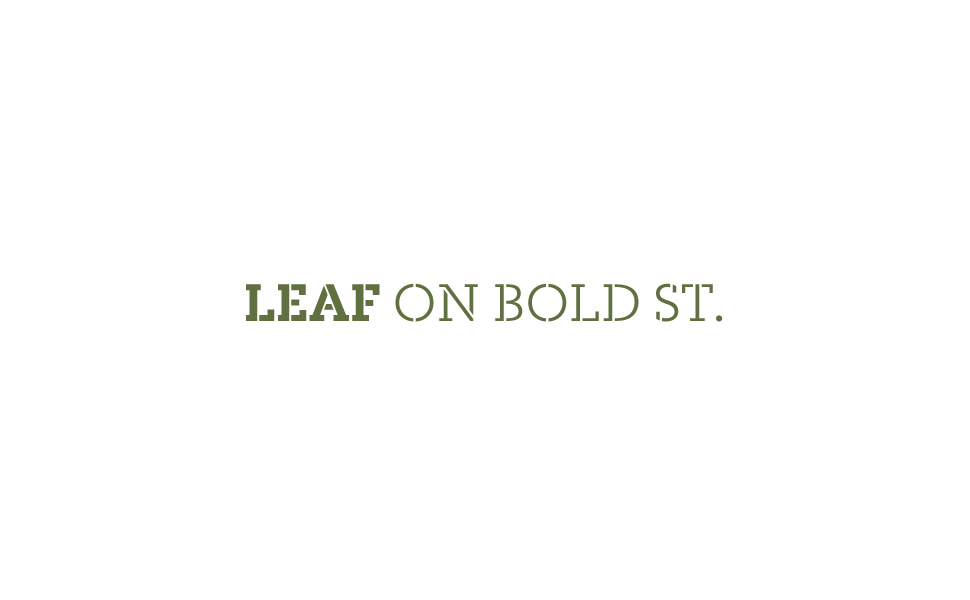 LEAF On Bold St — We are SB Studio. A Design & Brand Consultancy.