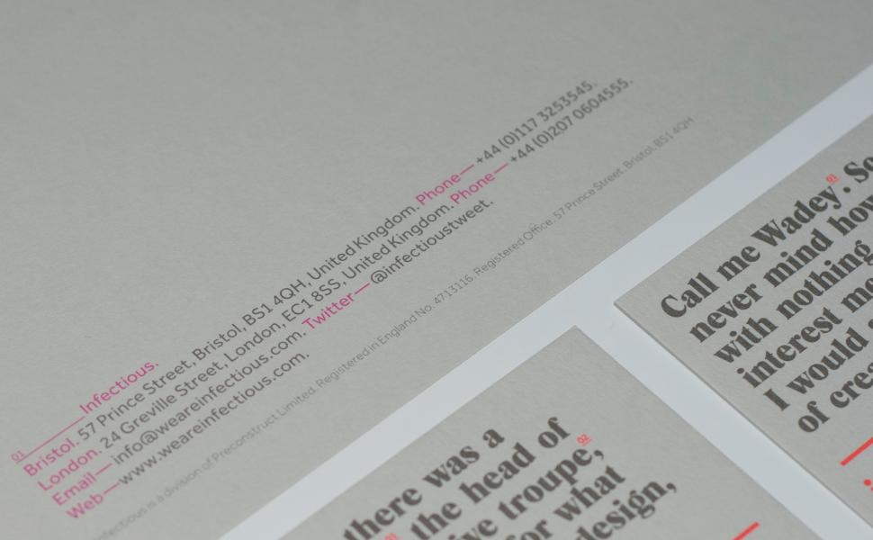 Infectious — We are SB Studio. A Design & Brand Consultancy.