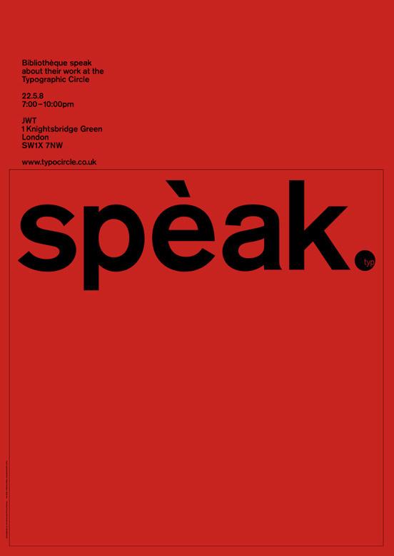 Spèak – Lecture Poster   Bibliothèque Design