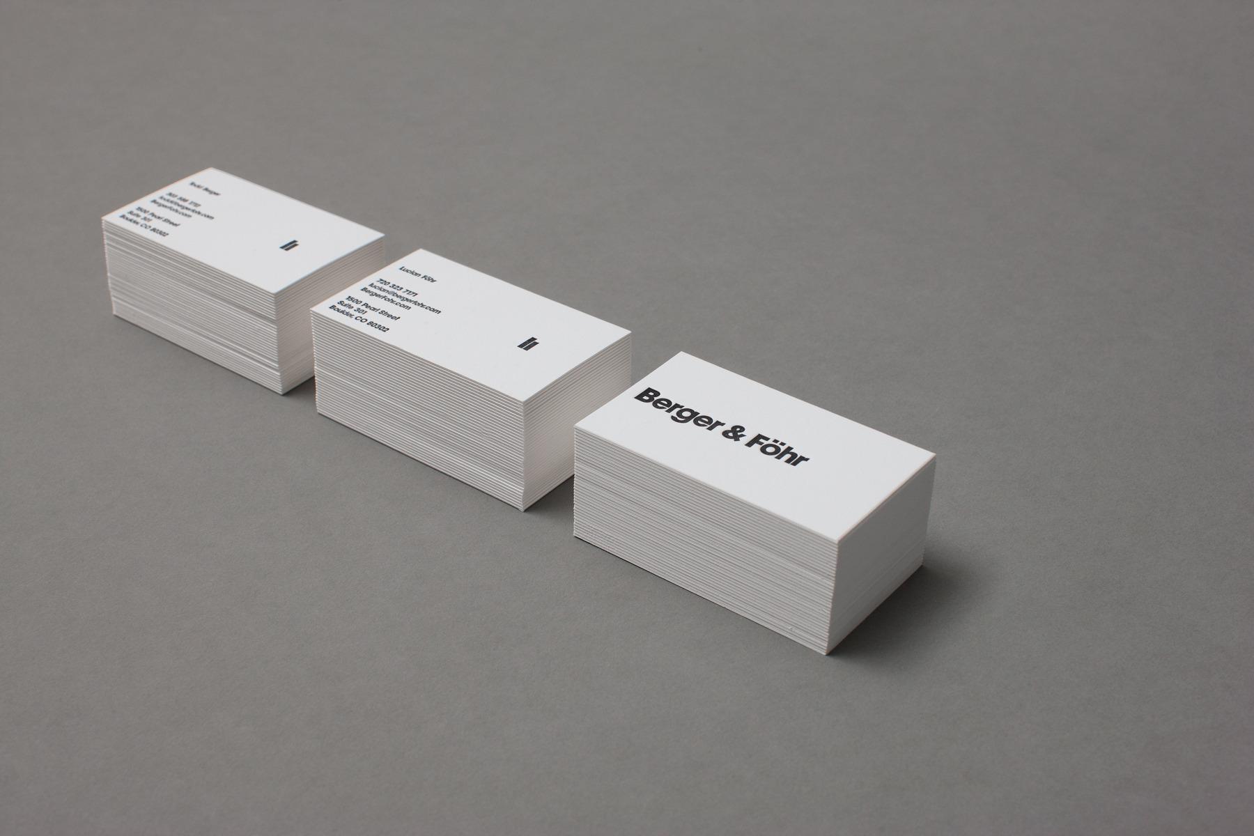 B&F Studio Collateral — Berger & Föhr — Design & Art Direction