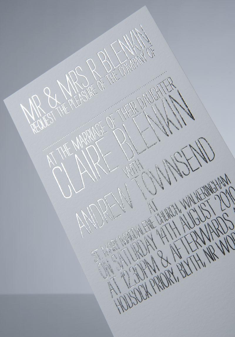 Wedding Invitation : Andrew Townsend
