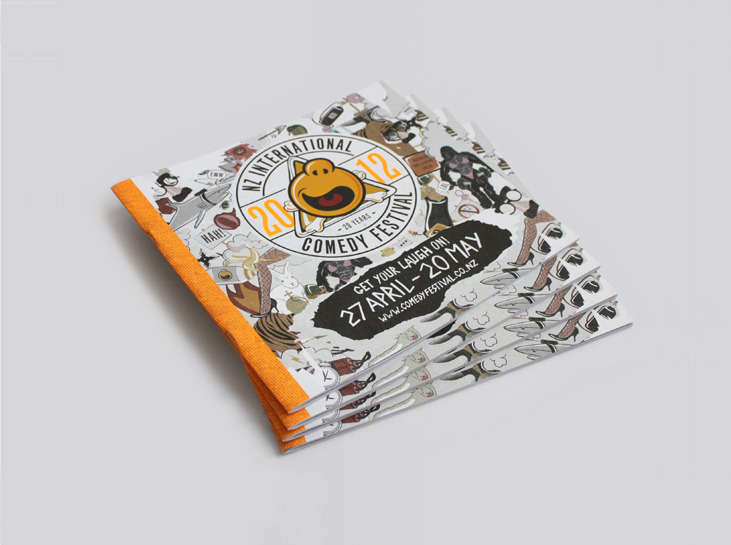 Bradley Rogerson Design Journal » Nz International Comedy Festival 2012 Programme