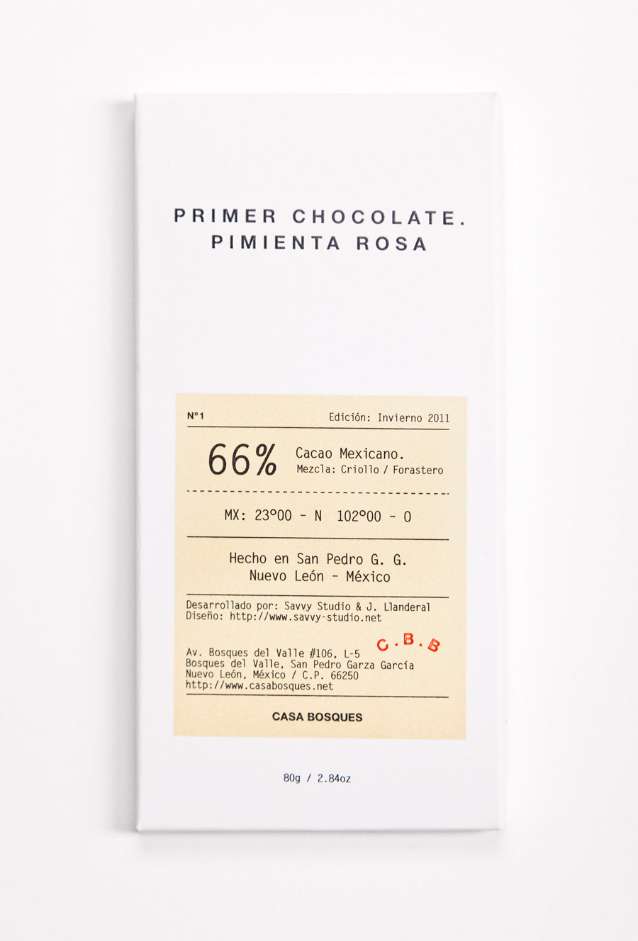 SAVVY STUDIO | Casa Bosques Chocolates