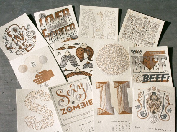 2011 Studio on Fire Letterpress Calendar | The Donut Project