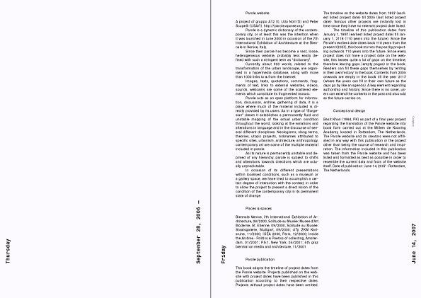 Parole (A Timeline) - Field Process