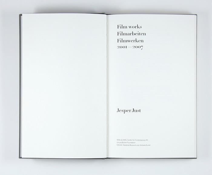 Atelier Carvalho Bernau: Jesper Just: Film Works