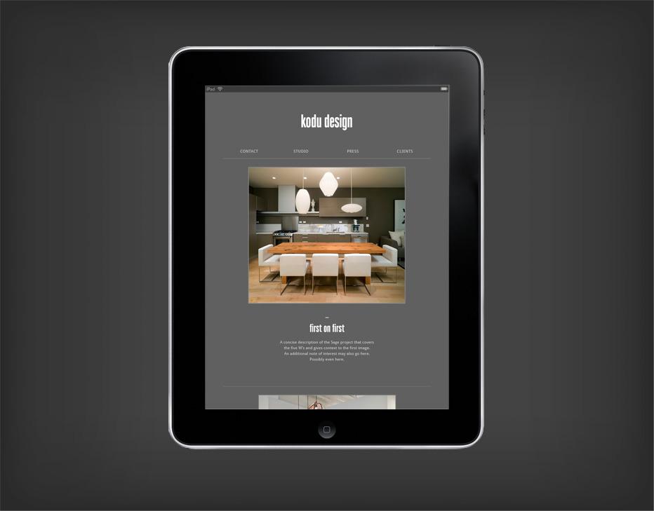 Kodu Design — Post Projects