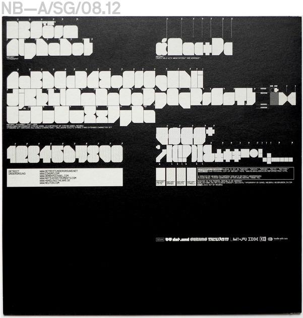 Neubau (Berlin)/Detroit Underground, Generic LP-Sleeve, Black Edition