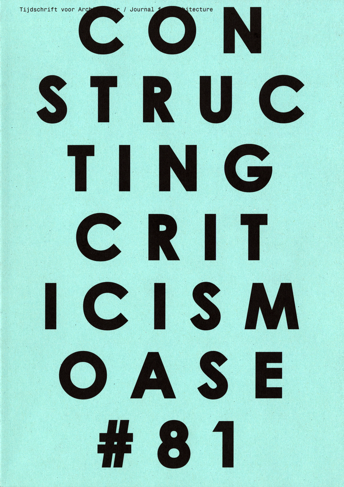 OASE 81 Constructing Criticism