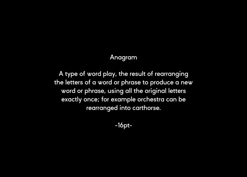 Anagram - Tomas Sabbatucci