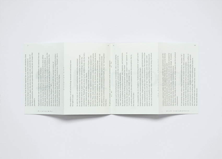 David Ortiz   Disassembly   editorial design, typography