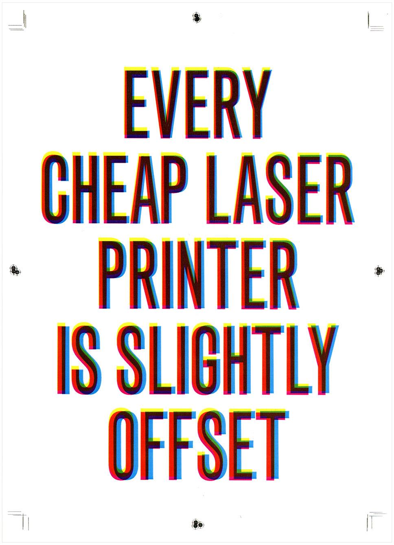 Statement: laser printer : Antonio Bertossi