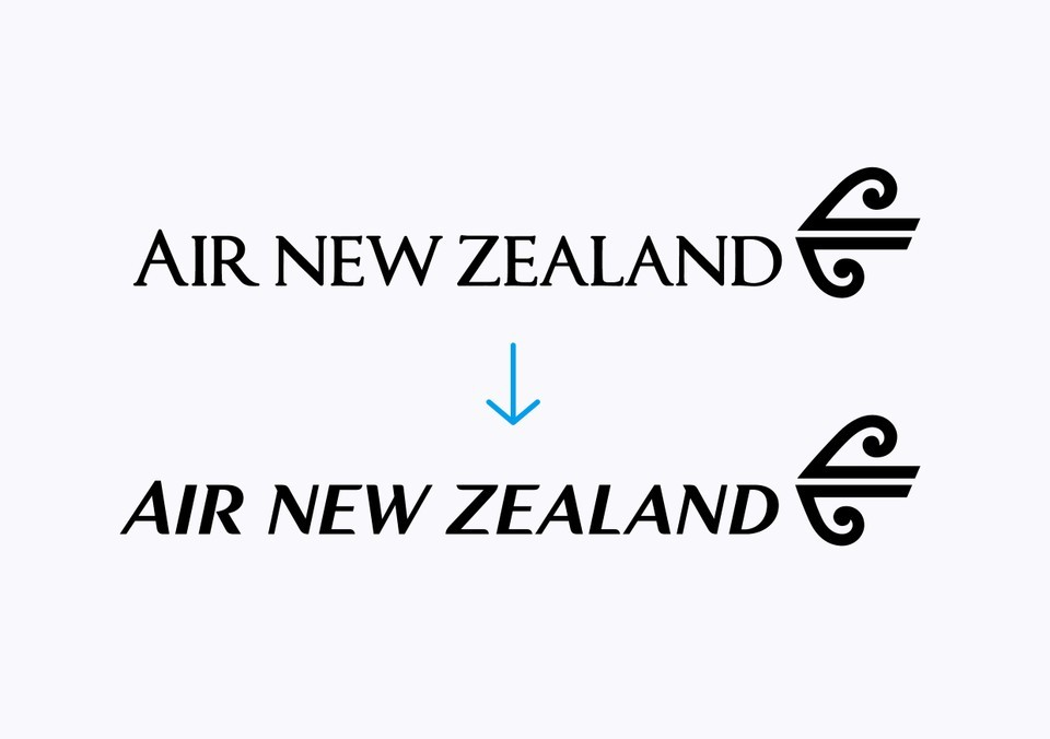 Best Awards - Designworks. / Air New Zealand Wordmark