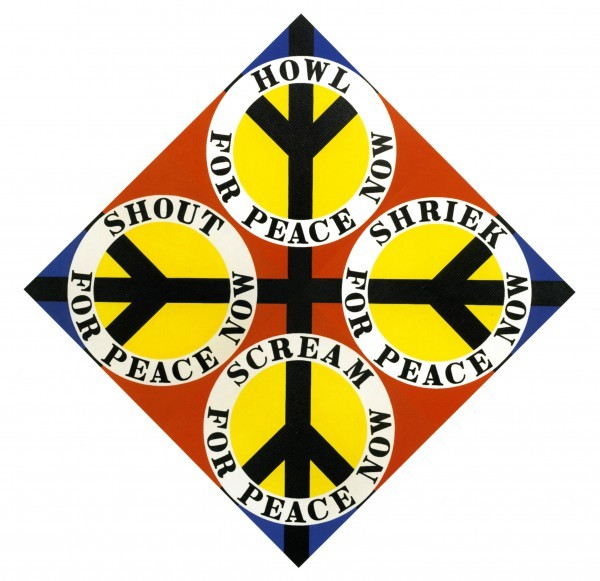 FOUR DIAMOND PEACE (RED) | Robert Indiana | Pre-eminent figure of American art and pioneer of assemblage art, hard-edge abstraction, and pop art