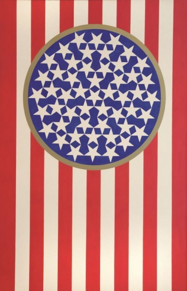 NEW GLORY BANNER | Robert Indiana | Pre-eminent figure of American art and pioneer of assemblage art, hard-edge abstraction, and pop art
