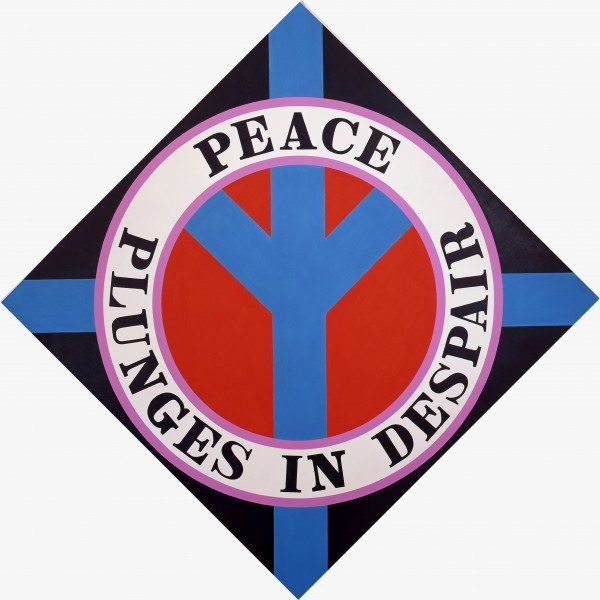 PEACE PLUNGES IN DESPAIR | Robert Indiana | Pre-eminent figure of American art and pioneer of assemblage art, hard-edge abstraction, and pop art