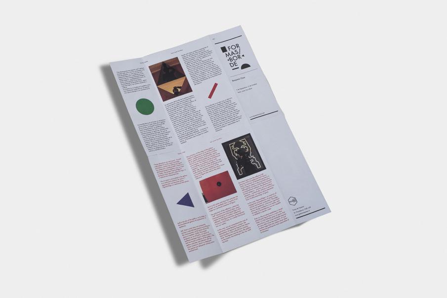 Poster – Formas / Borde, Benjamín Ossa - Sebastián Rodríguez