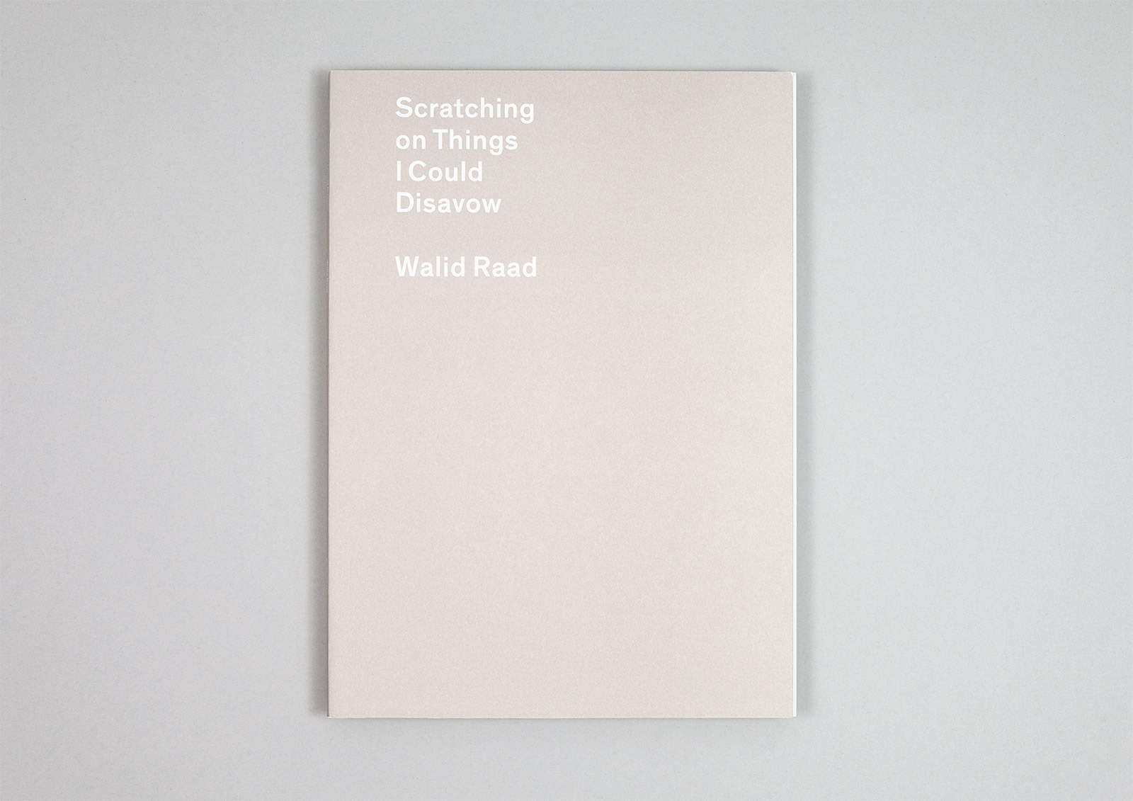 Walid Raad – Scratching on Things — Carvalho Bernau