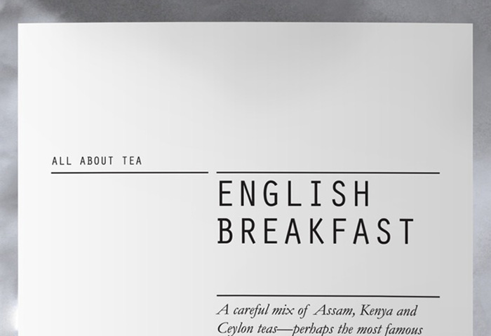 Fonts In Use – All About Tea