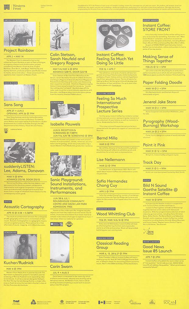 Western Front Spring Calendar 2012