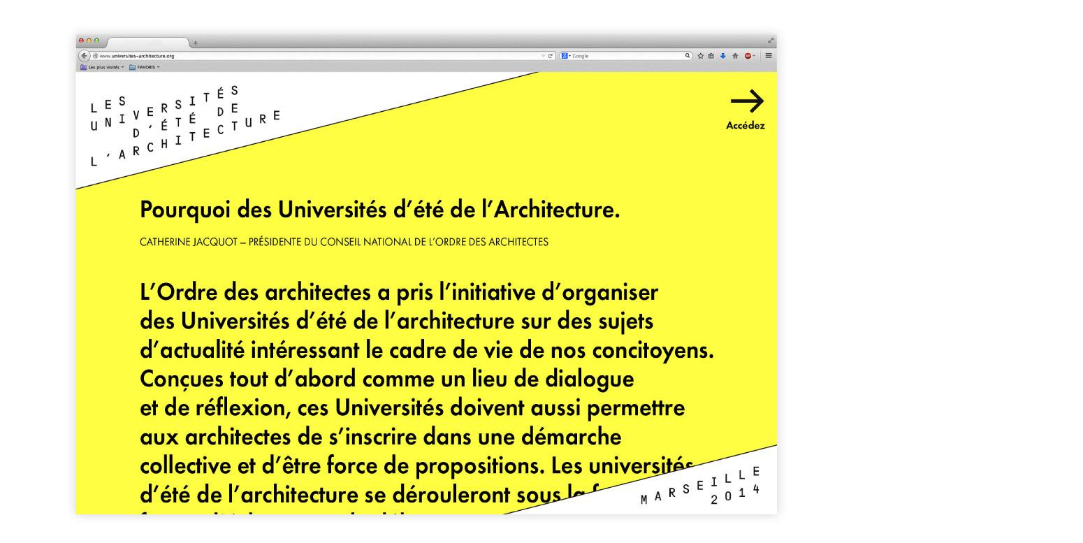 Zoo : Les Univeristés d'été de l'Architecture