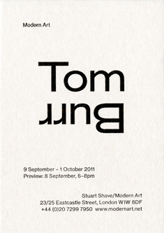 Fraser Muggeridge studio: Tom Burr, Modern Art 2011